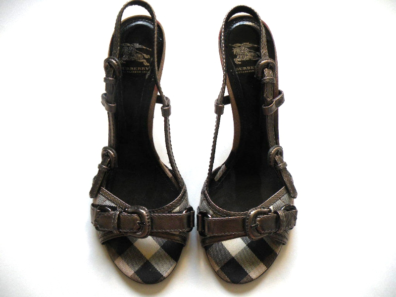 free ship today burberry high heel shoes 39 slingbacks