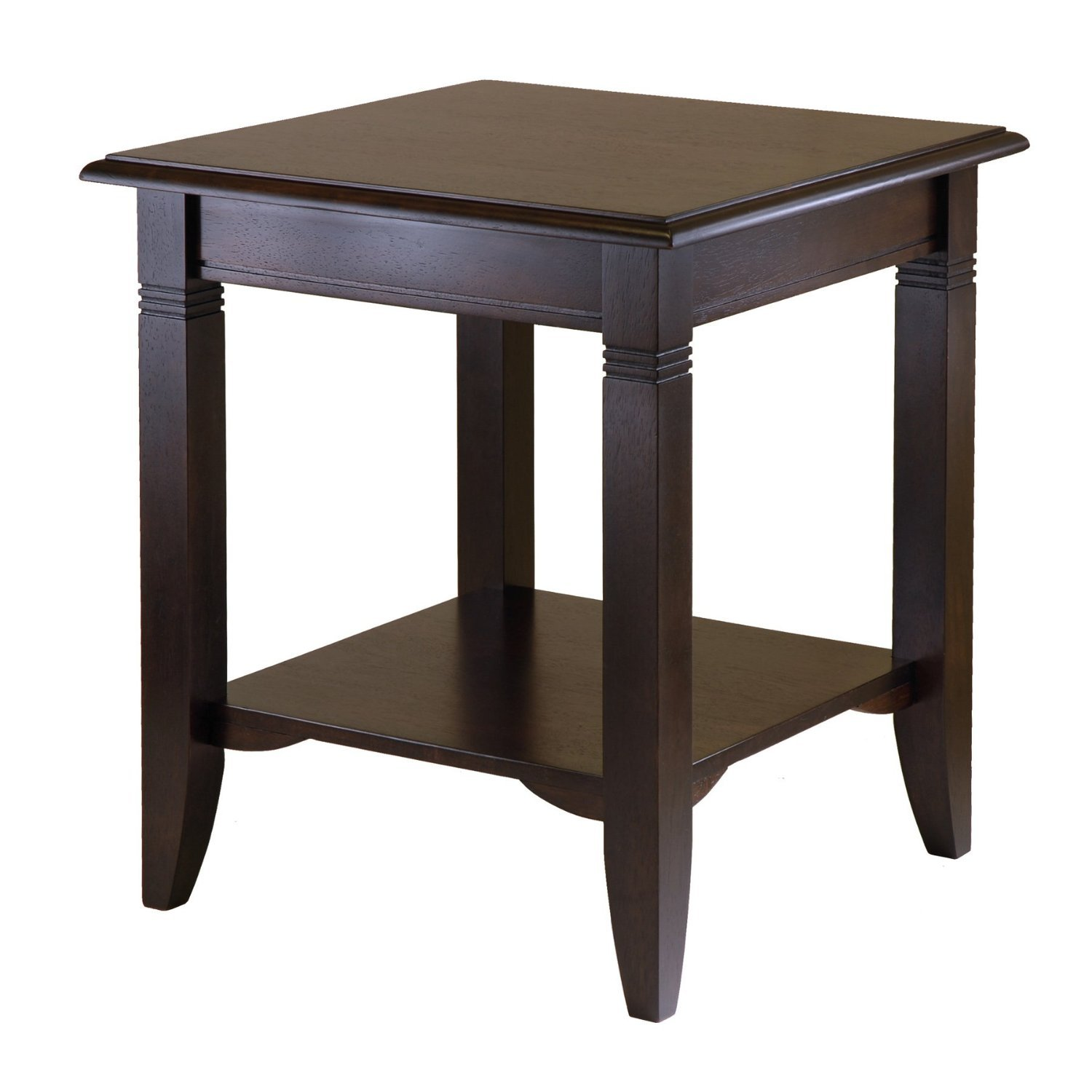 Amazing photo of Wood End Table Side Coffee Storage Display Tables Cappuccino Tables with #6F5E4D color and 1500x1500 pixels