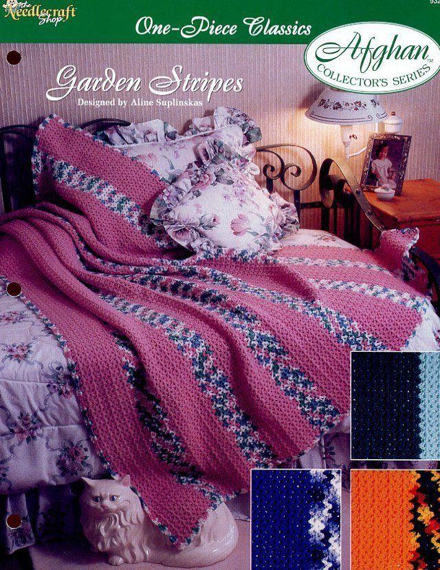 Garden Stripes One-Piece Afghan Crochet Pattern - 30 Days ...