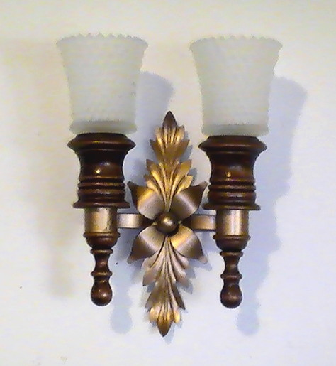 Candle Wall Sconces Nz : Home Interiors Mediterannean Wood and Brass Wall Sconce - Candles, Candleholders