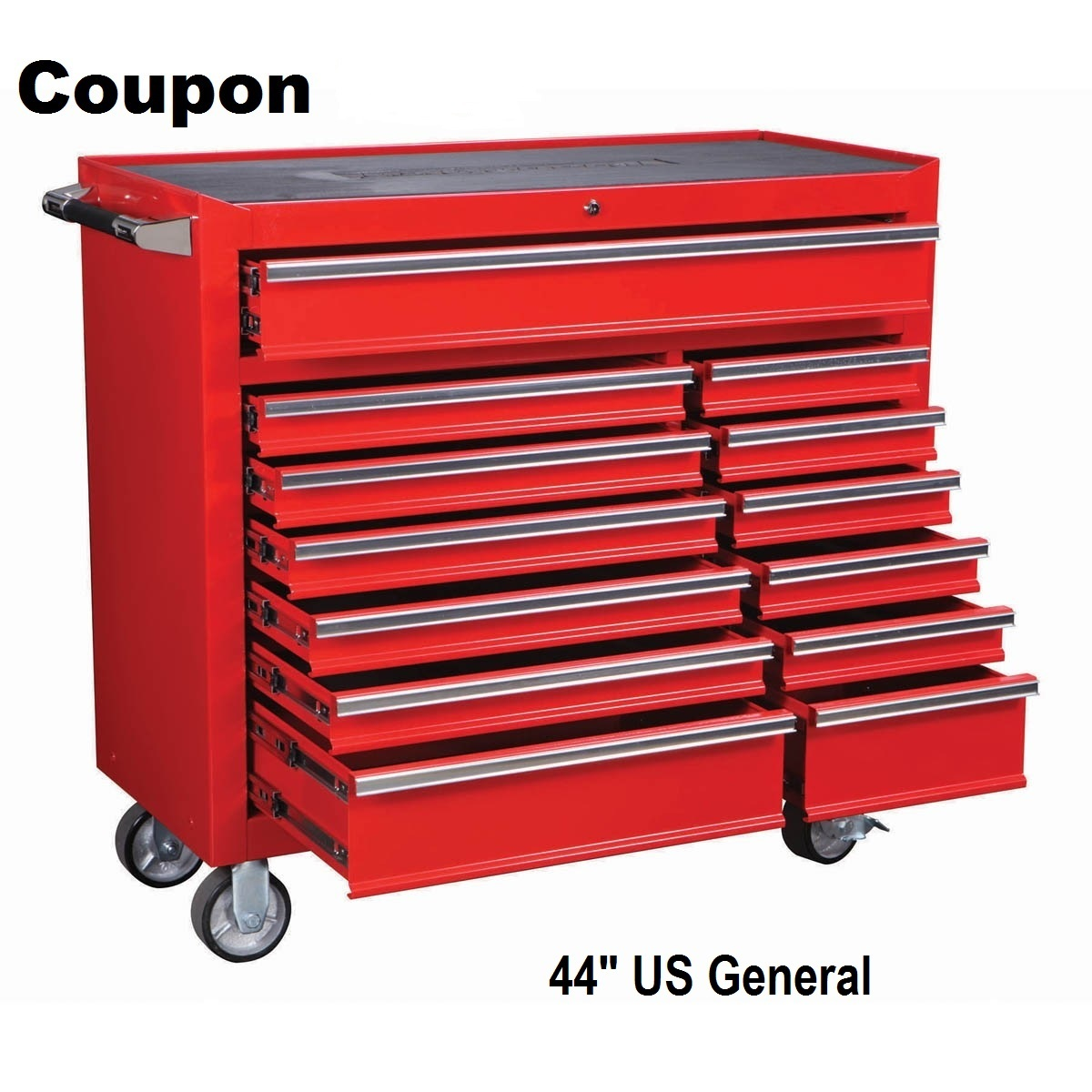 Roller Cabinet Tool Box Us General 44 Quot 13 Drawer Save 330