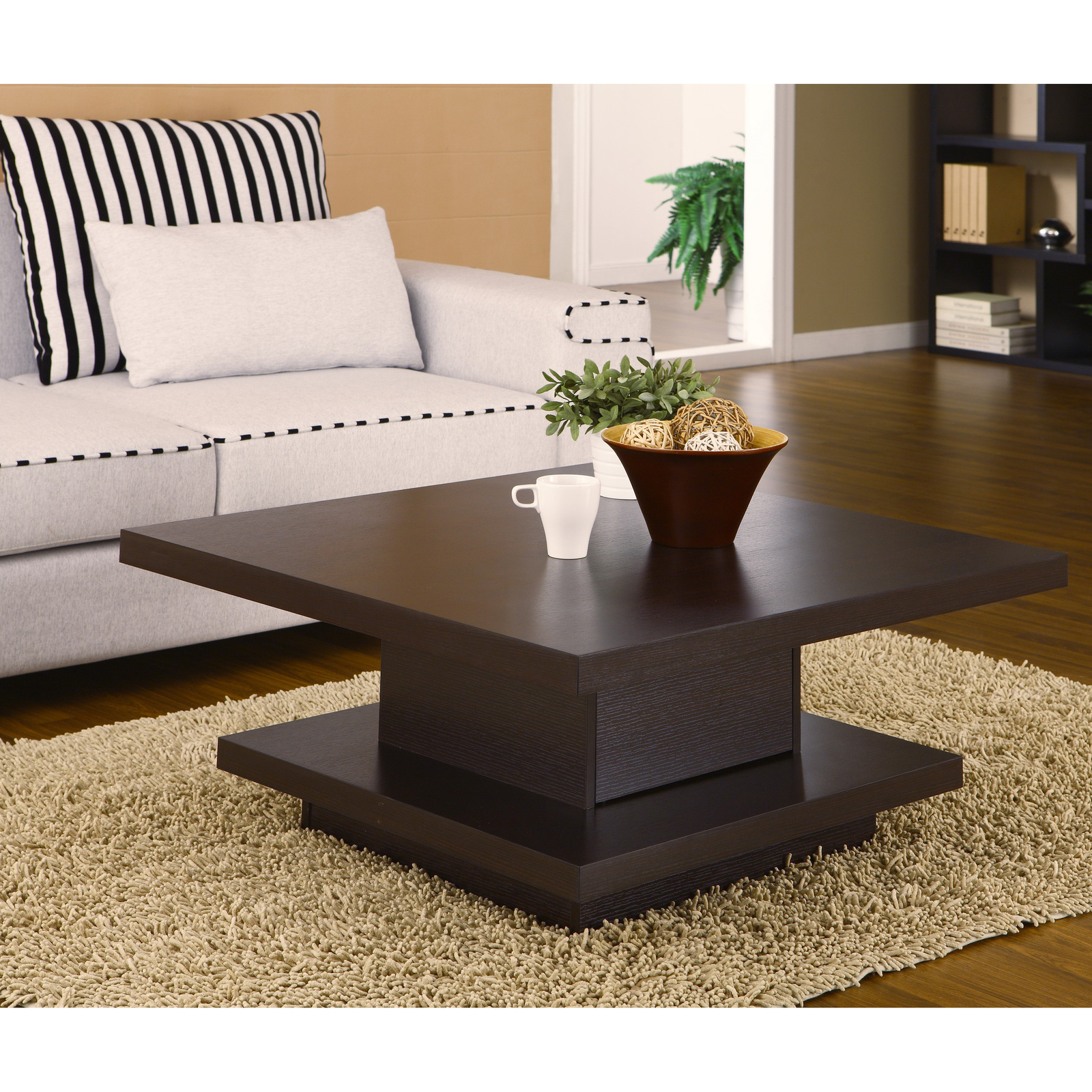 Contemporary modern wood coffee tables unique square style for Modern style coffee tables
