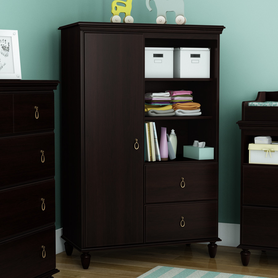 Kids Armoire Wardrobe Bedroom Storage Cabinets Wood Furniture ...