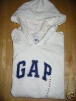 NWT Womens Gap White Logo Hoodie Sweatshirt XXL XXLarge GAP