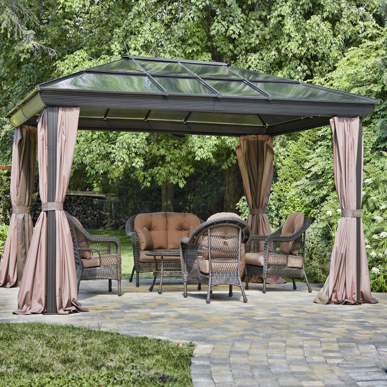 Backyard Gazebo Tent : Outdoor Patio Gazebo for Sale Canopy Patio Wedding Party Backyard Tent