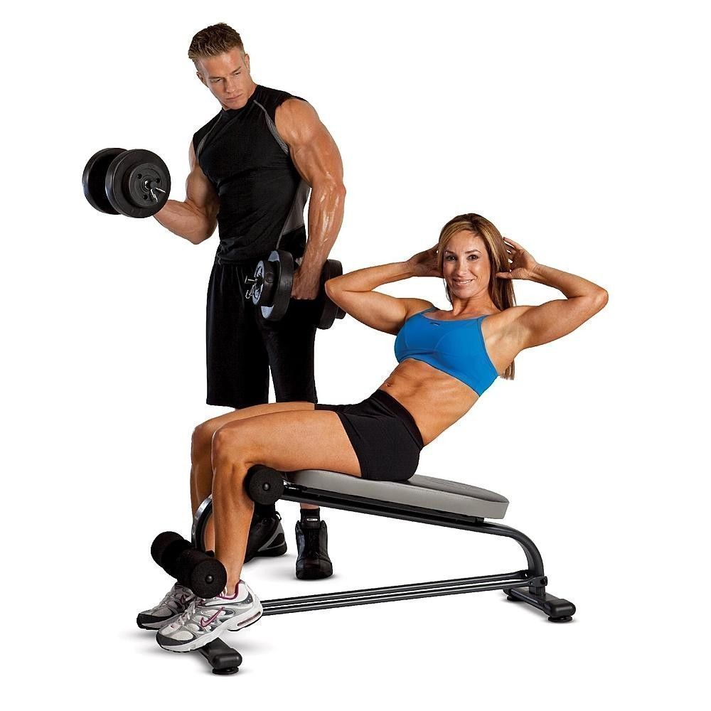 Ab workout bench adjustable flat decline home gym