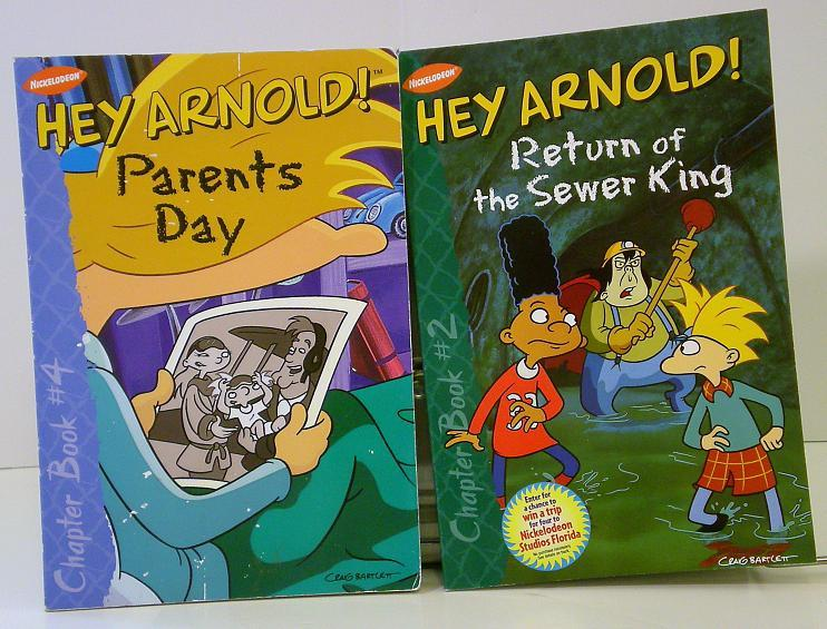 Hey Arnold! 2 book Lot from Nickelodeon episode novelization