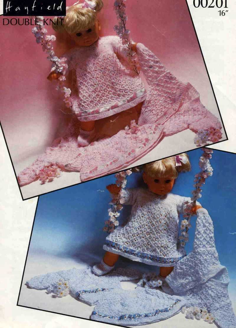 Knitting pattern to fit 16in dolls or reborns.Hayfield 00201. PDF Bonanza