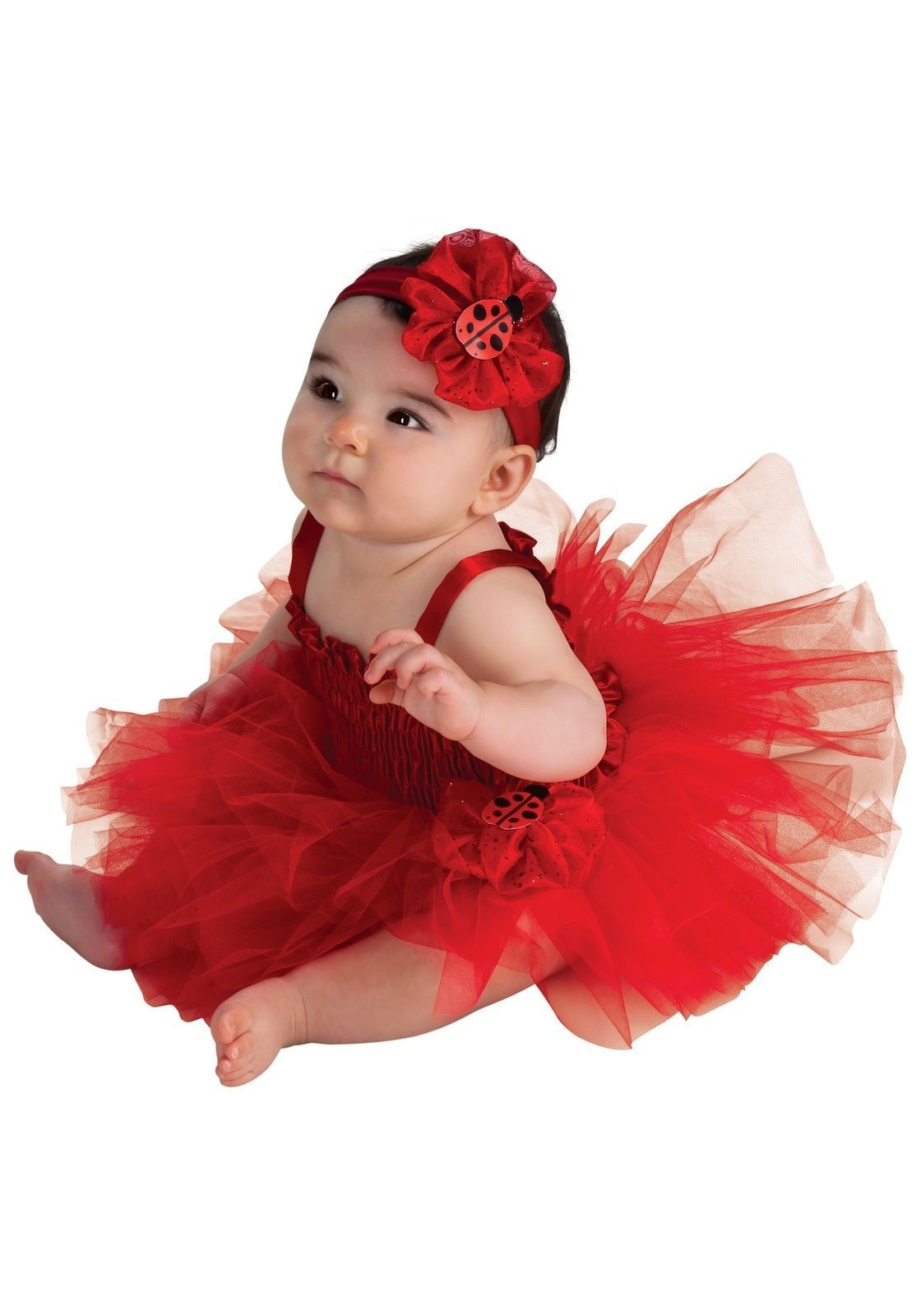 Image 1 of AdOrAbLe Baby Girl Red Ladybug Tutu Complete Costume 6-9M Rubies