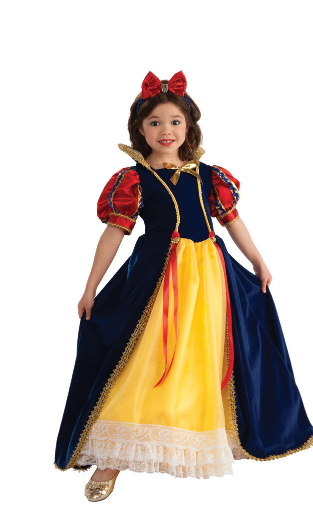 Image 1 of Rubies Enchanted Princess Snow White Deluxe Yellow Polyester Gown Costume 881373