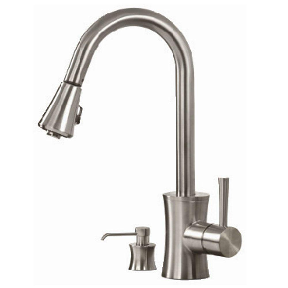 Pegasus Fp0a5012bnv Luca Pull Down Sprayer Kitchen Faucet Brushed Nickel Faucets
