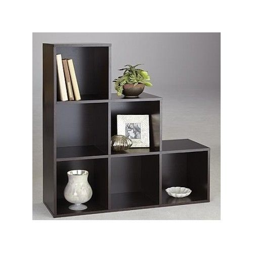 step shelves living room 6 cube step storage unit bookcase shelves organizer living 16190