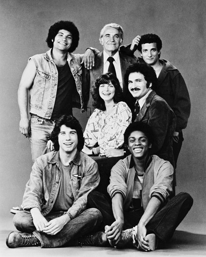 Welcome Back Kotter John Travolta Vintage 11X14 BW TV Memorabilia Photo