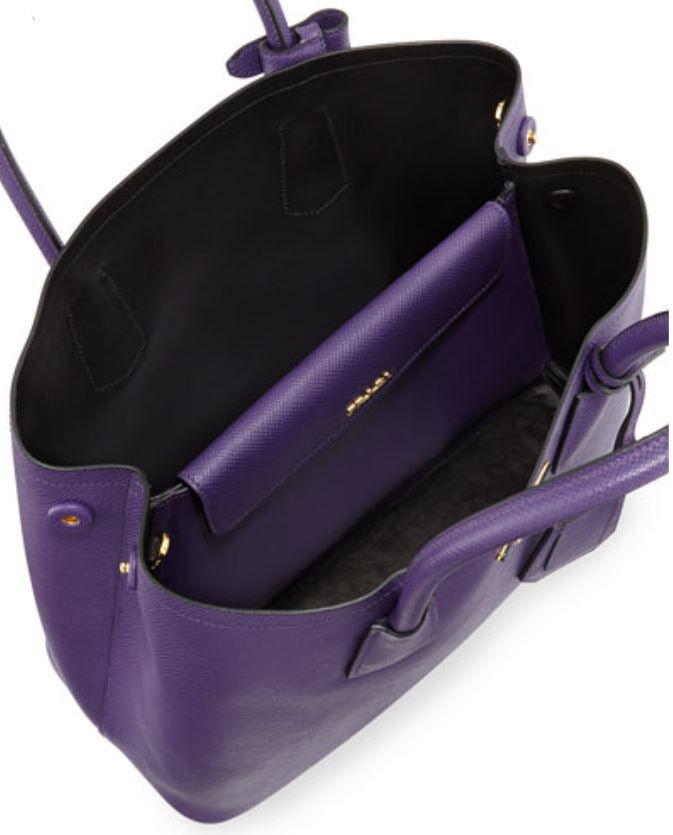 Prada Saffiano Cuir Small Double Bag Violet and 50 similar items