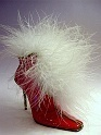 Mrs. Claus' Snowflake Surprise Shiny Red Boot Ostrich Just the Right Shoe Clause