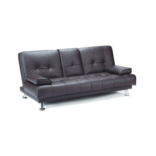 Black Leather Sofa Bed Italian Design Couch And 50 Similar