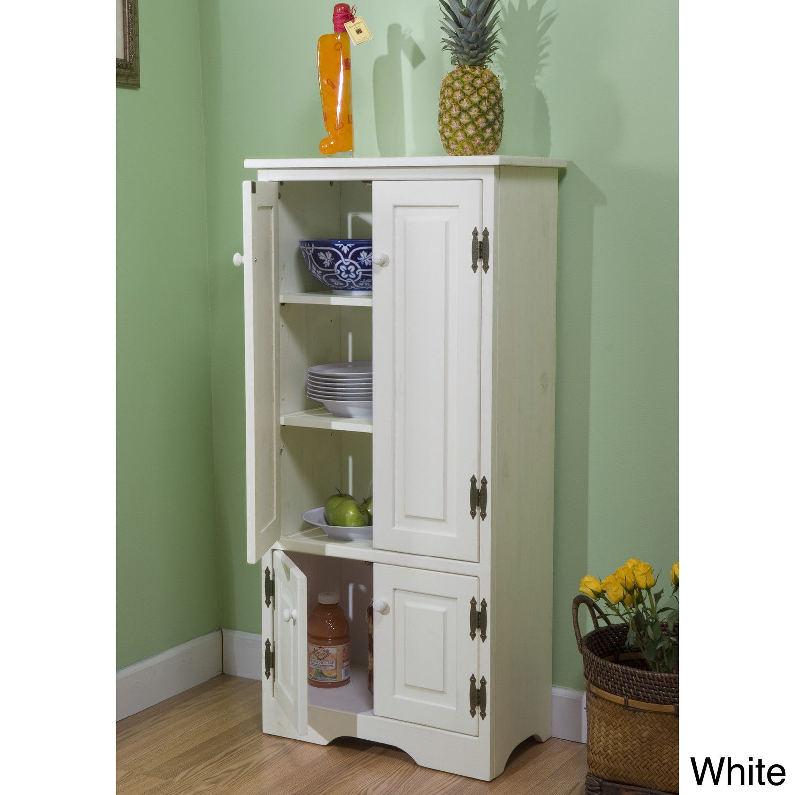 tall cabinet storage white kitchen bathroom cupboard