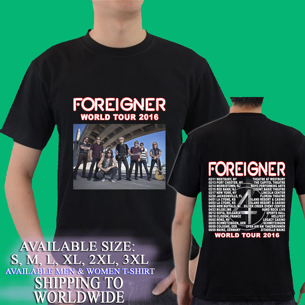 Foreigner  Tour T Shirts