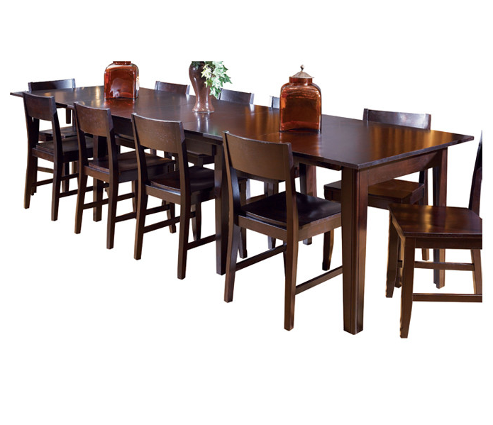 Rectangle Traditional Distressed Wooden Extended Dining