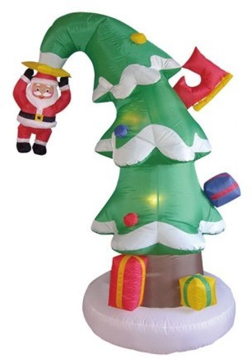 Foot tall christmas inflatable santa claus on