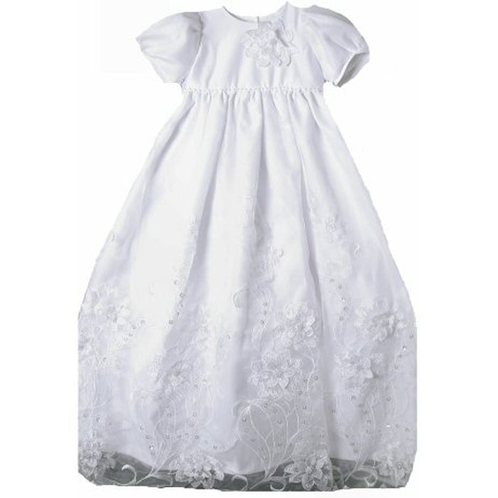 Image 0 of Stunning Baby Girl Unique Angels Floral Lace Boutique Christening Gown/Hat Set -