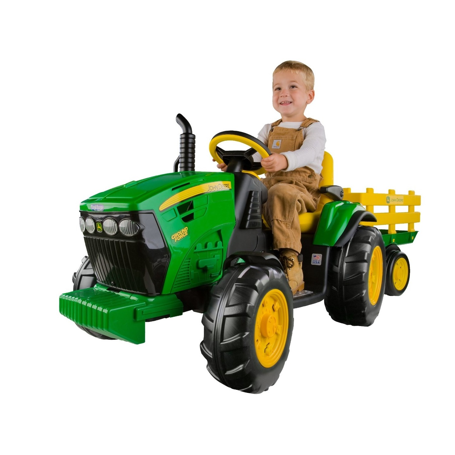 Toddler Riding Toys : Battery powered tractor kids ride on trailer farm wheels