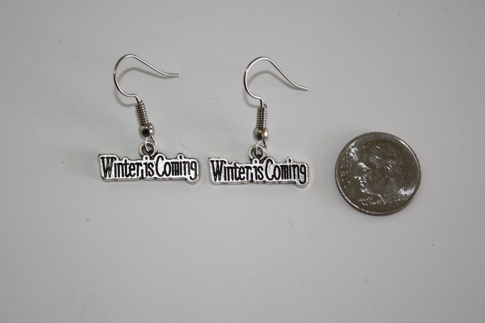 Tibetan Silver Winter is Coming Earrings