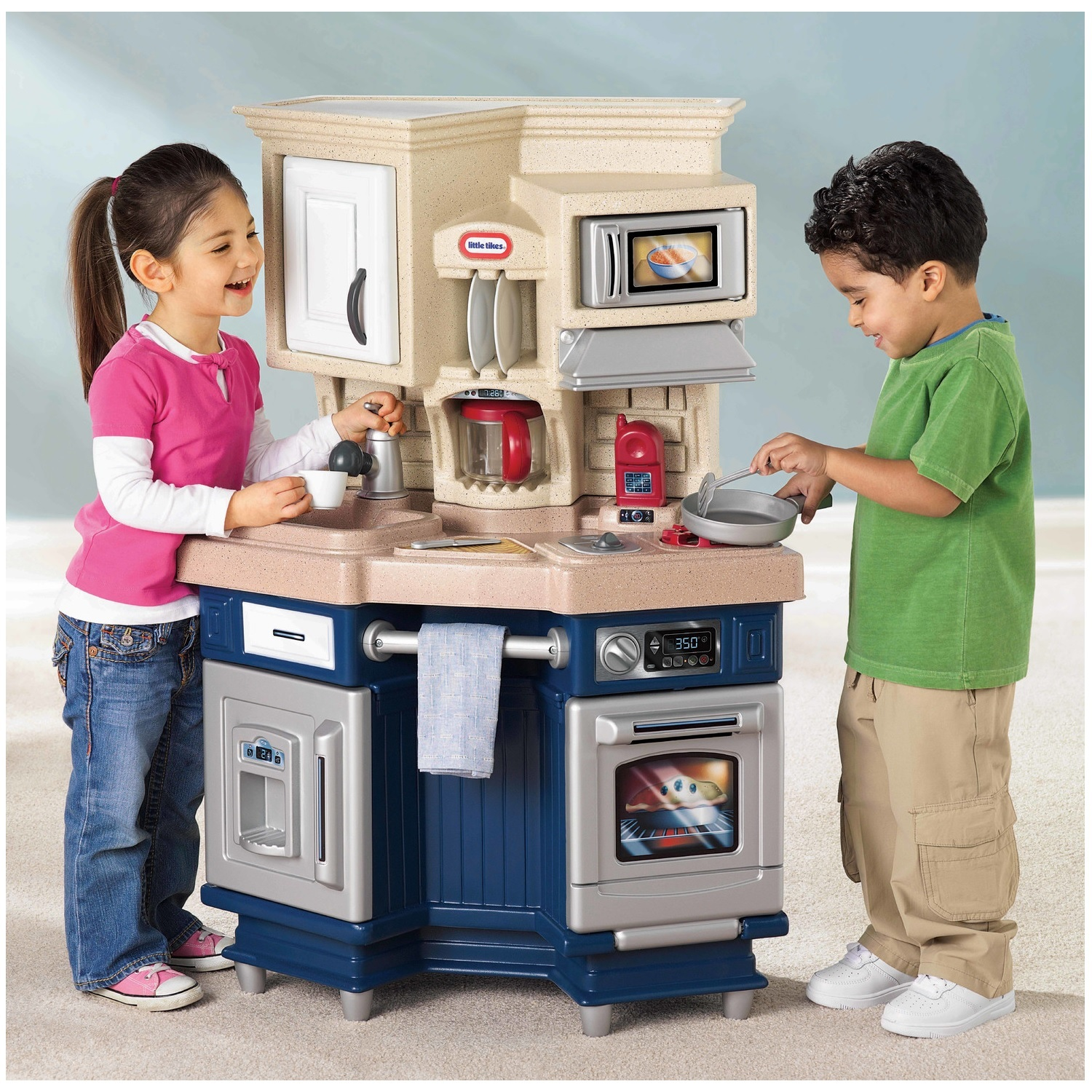 Kitchen Play Pretend Kids Toy Super Chef Cooking Playset