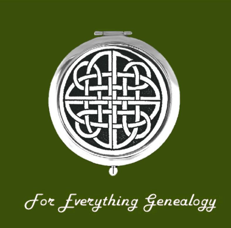 Celtic Endless Knotwork Pewter Motif Chrome Plated Compact Mirror