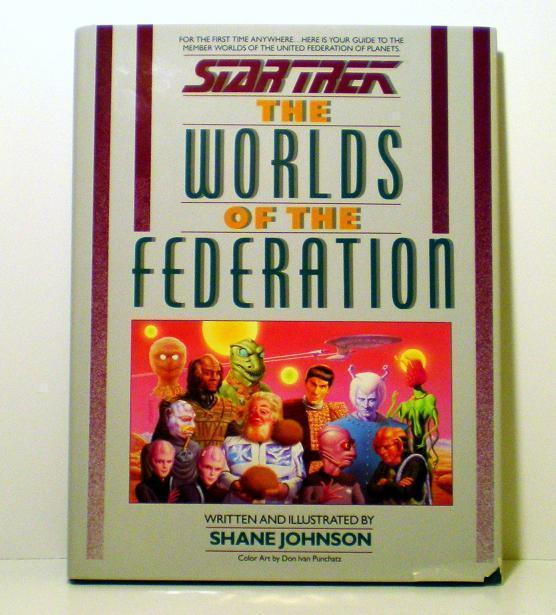The Worlds of the Federation Star Trek Shane Johnson HB 1989