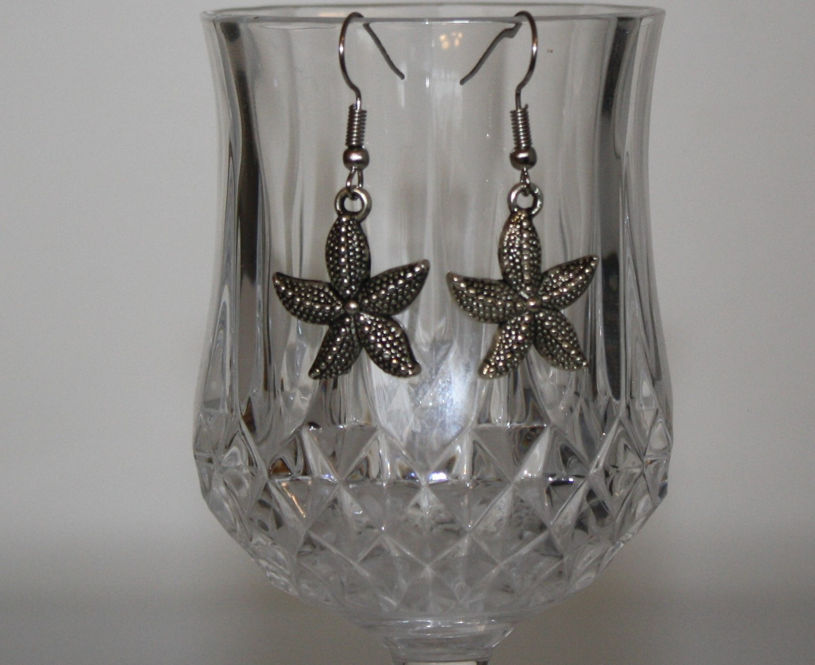 Tibetan Silver Starfish Charm Earrings