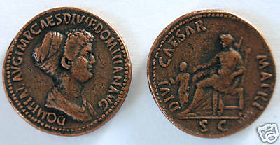 (DD S-48) Domitia Sestertius COPY Bonanza