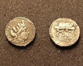 (RR-30)  Roman Denarius of Furrus Crassipes COPY Bonanza