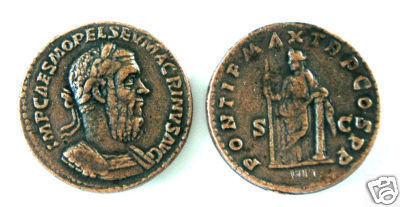 (DD S-81)  Sestertius of Macrinus COPY Bonanza