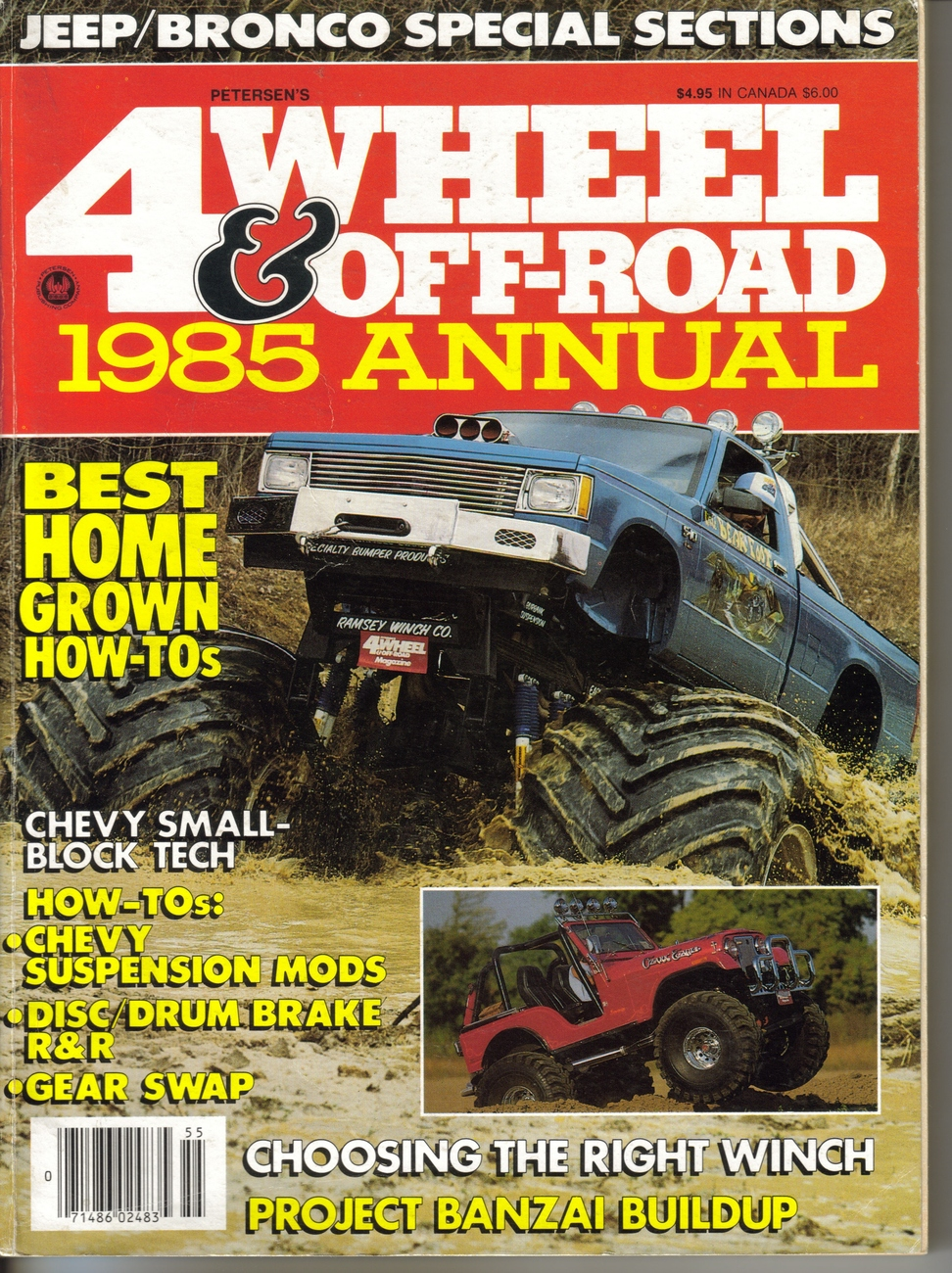 4 wheel off road 1985 annual magazine back issues. Black Bedroom Furniture Sets. Home Design Ideas