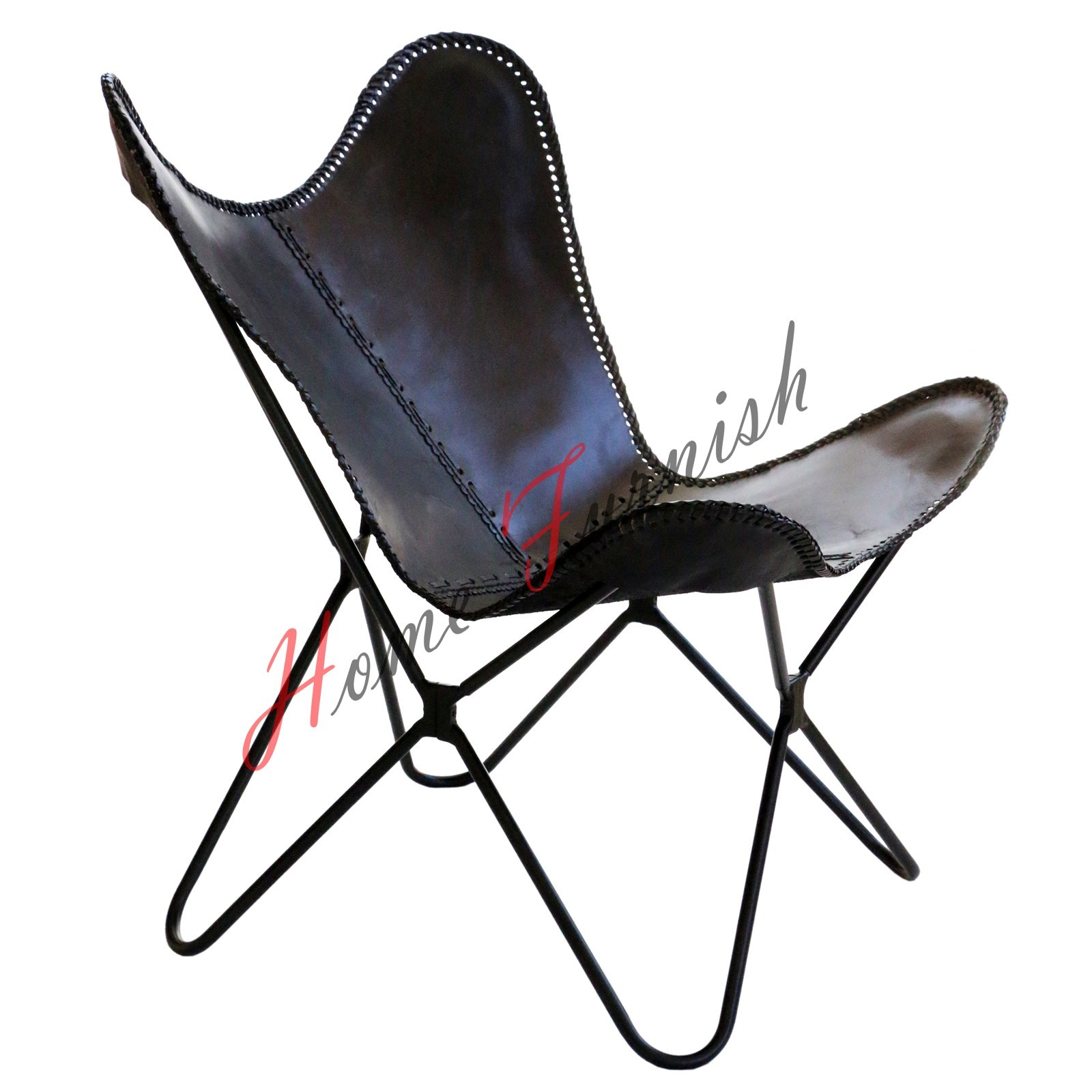 black leather butterfly arm chair butterfly cow leather. Black Bedroom Furniture Sets. Home Design Ideas