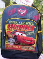 Pixar Disney Lightning McQueen *CARS* Backpack NEW Canvas Full Size Book Bag Generic