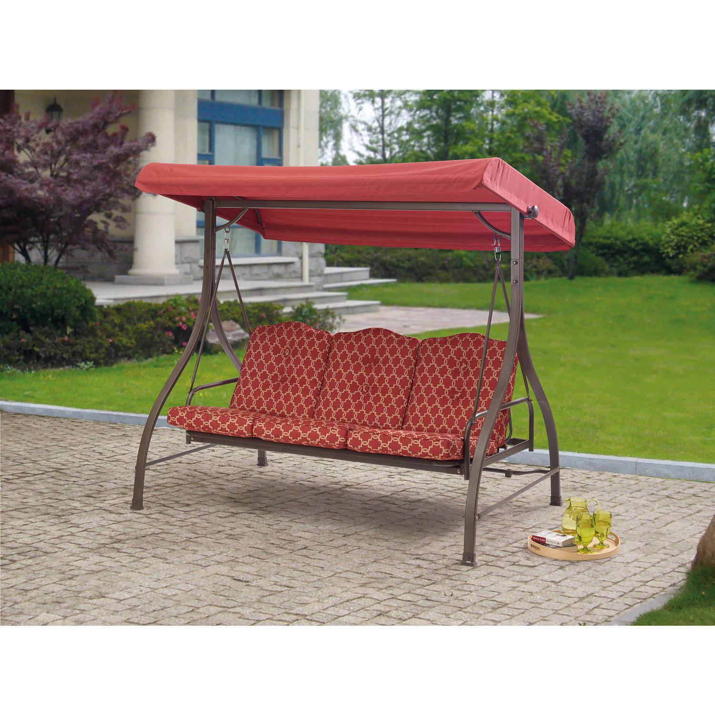 Outdoor_3_person_swing_canopy_hammock_seat_patio_deck_furniture_steel ...