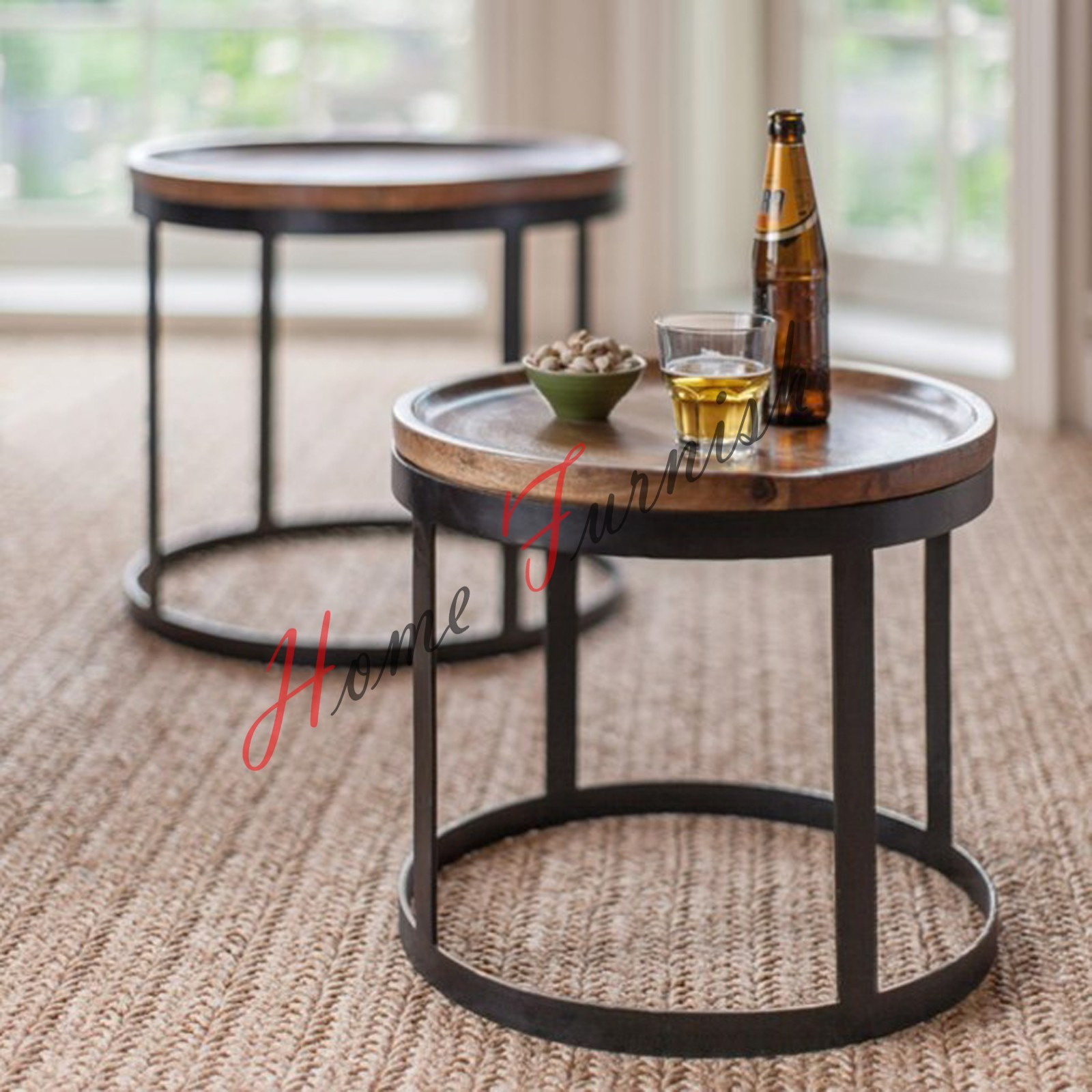 Tray Tables Vintage Look Industrial Style Coffee Table Neste Tables