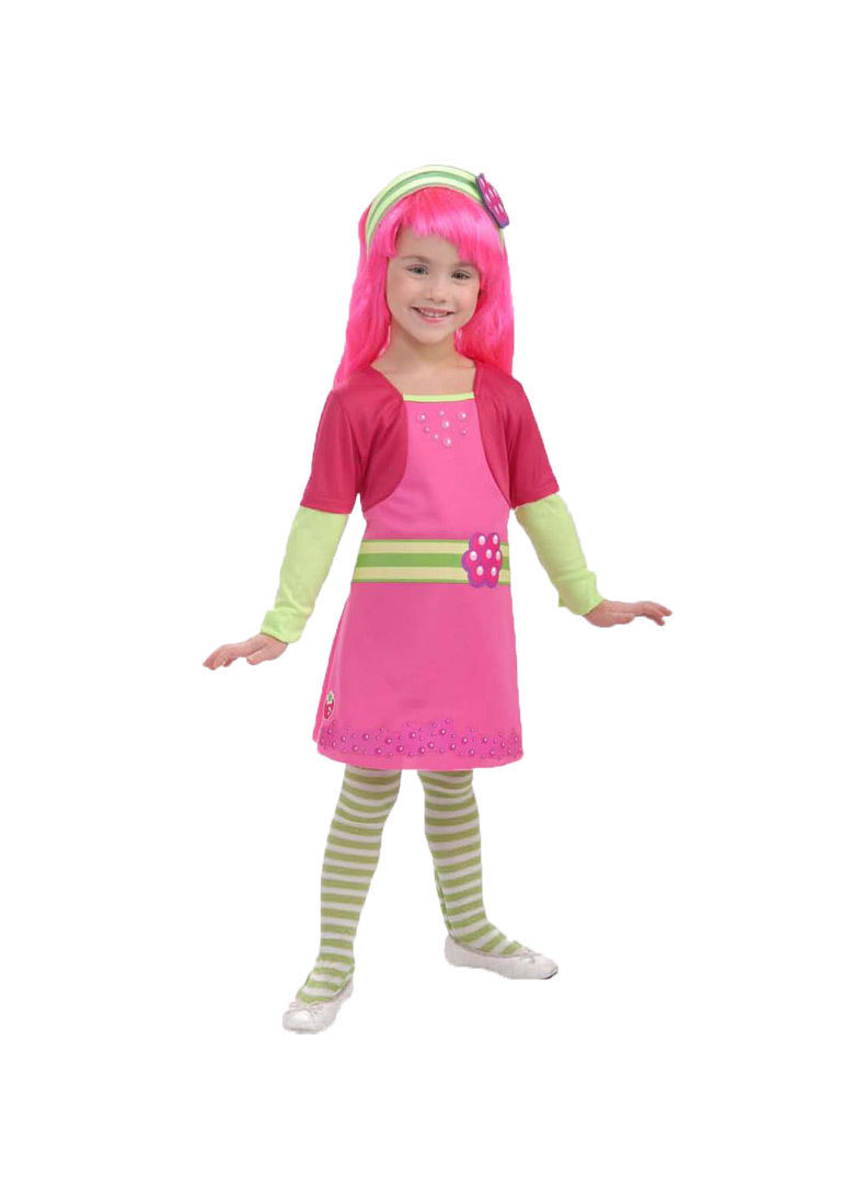 Image 2 of Rubies Cute Raspberry Tart Girl's Costume w/Wig, Tights, Headpiece 884759 - Pink