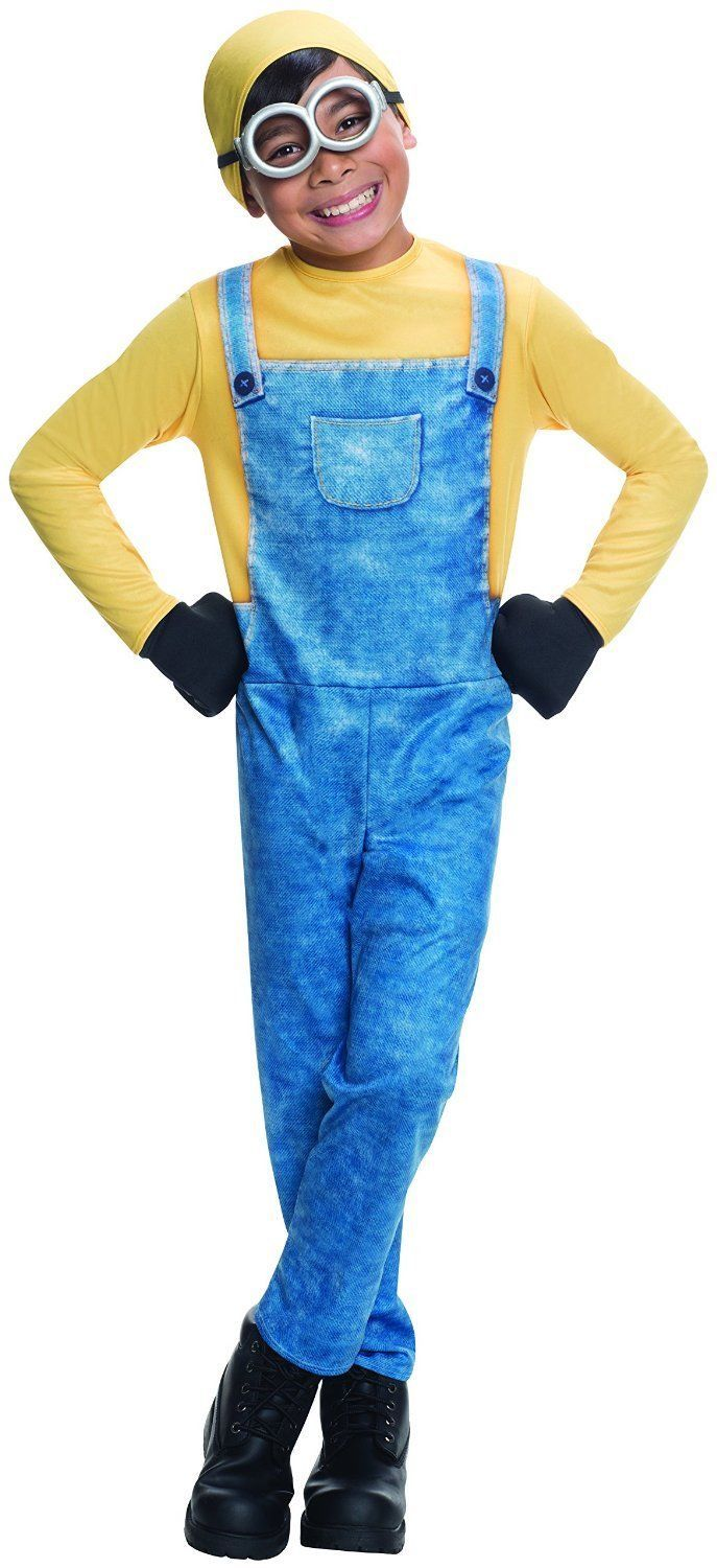 Image 3 of Adorable Minion Bob Licensed Costume Rubies 610784, Boys, Blue Yellow - Blue - P