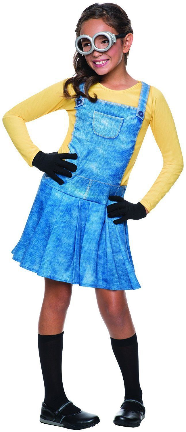 Image 1 of Cute Female Minion Licensed Costume Rubies 610786 Dress, Goggles, Gloves, Socks