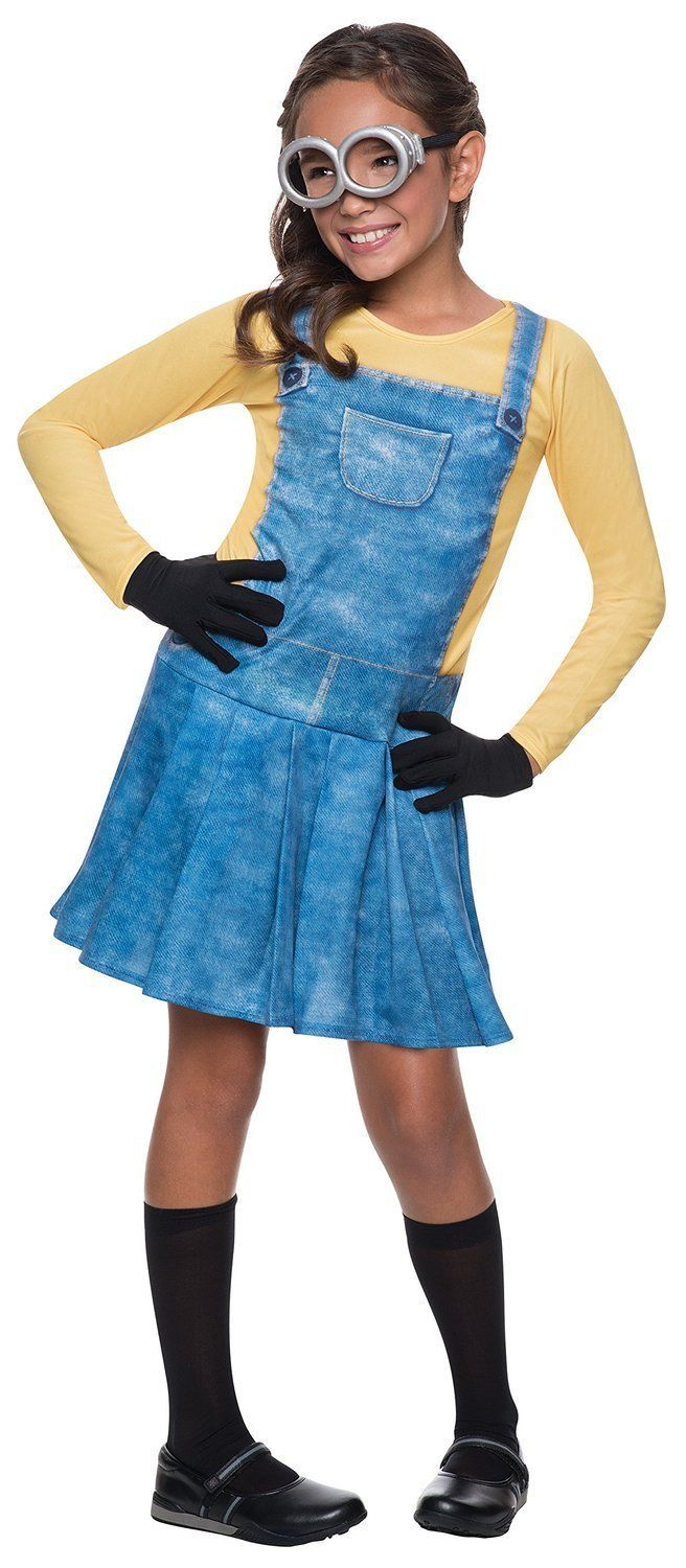 Image 4 of Cute Female Minion Licensed Costume Rubies 610786 Dress, Goggles, Gloves, Socks