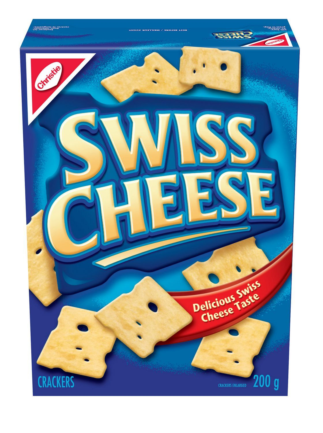 ... Swiss Cheese Crackers 4 boxes 200g each Canadian made - Crackers