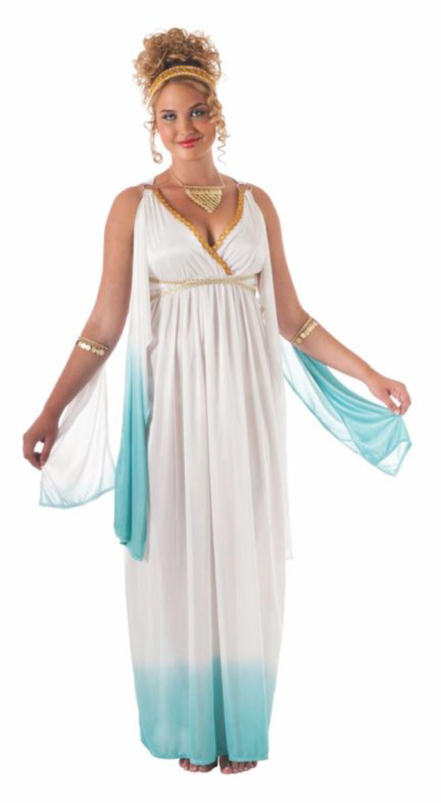 Image 1 of White Grecian Goddess Plus Size Ladies Adult Costume, Rubies 17785