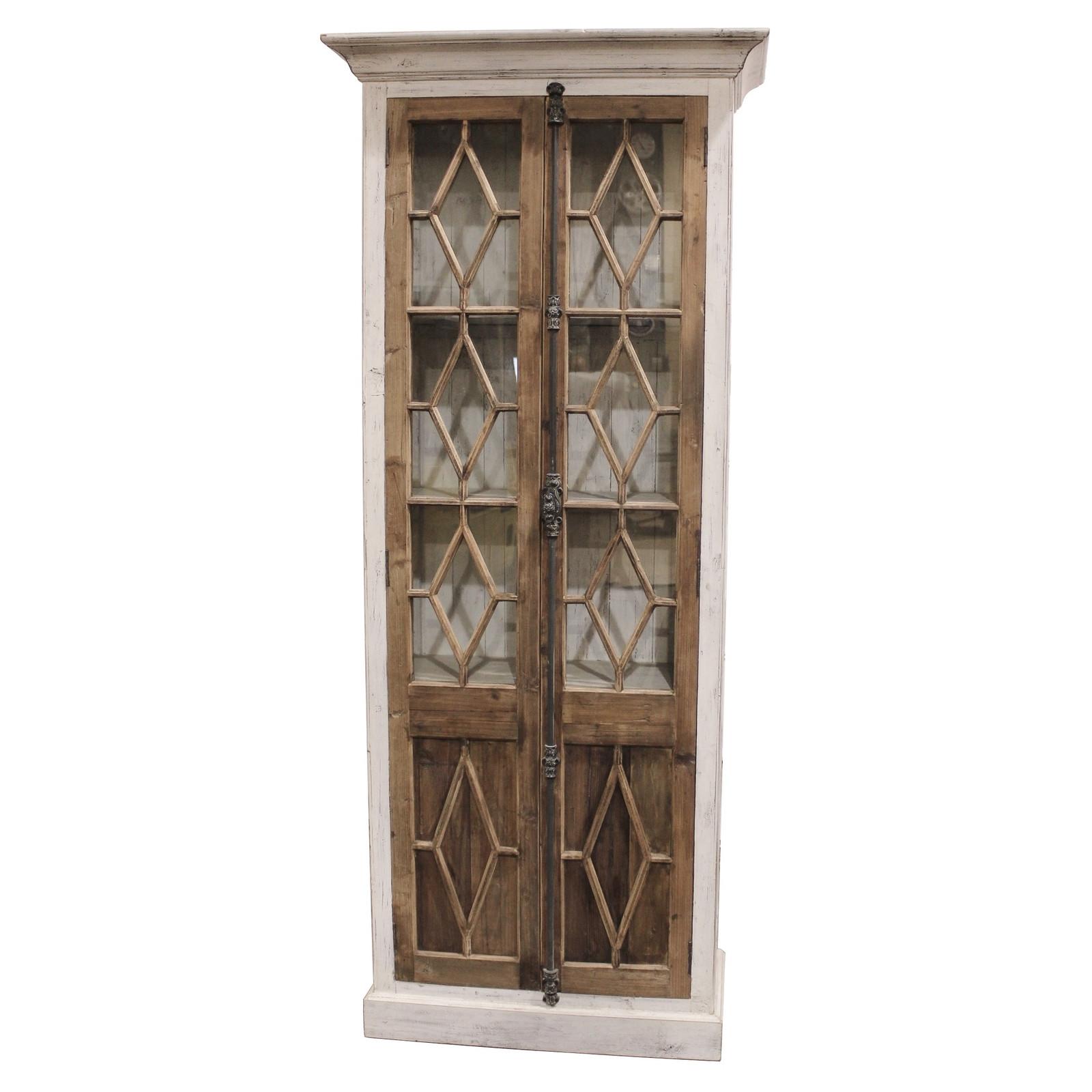 Restoration hardware horchow french casement glass fretwork armoire bookshelf cabinets cupboards - Restoration hardware cabinets ...