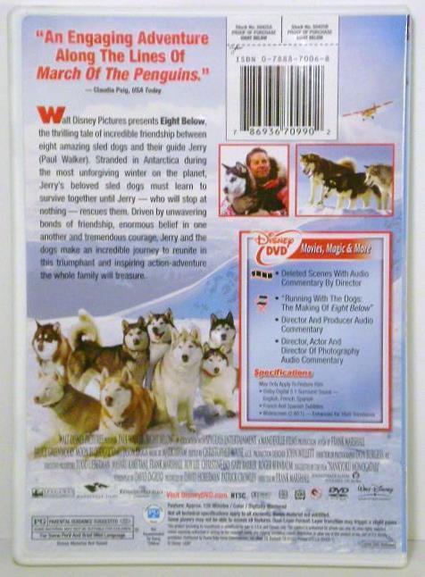 Image 1 of Disney's Eight Below Widescreen DVD movie 2006