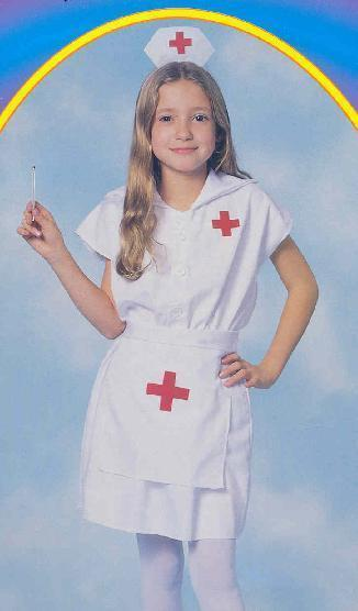 NURSE small 4t-6t childs costume with Hat Generic