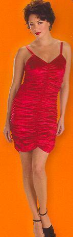 BETTY BOOP STYLE RED PANNE COFFIN DRESS SZ 12-14 Bonanza
