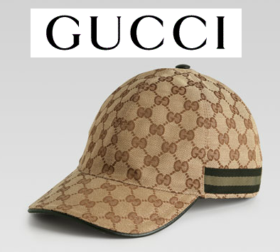 $355 GUCCI GIFT GG LOGO Signature Web Beige Baseball Cap Hat ITALY AUTHENTIC NEW